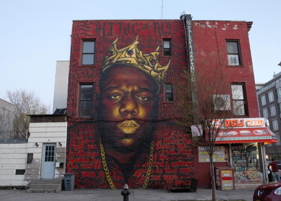 The neighbourhood of Bedford Stuyvesant is the home of Black cultural legends like Biggie and Lil' Kim